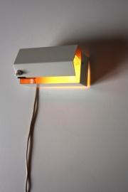 Muurlampje metaal `60 / Metal wall lamp `60 [sold]