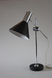Bureaulamp zwart-chroom / Desk lamp black-chrome [sold]