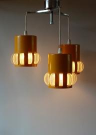 Driedelige sixties hanglamp / Three-piece sixties pendant [sold]