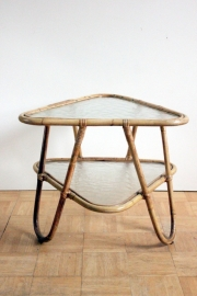 Rotan bamboe salontafeltje / Rattan bamboo coffeetable [sold]