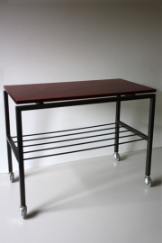 Bijzettafeltje + rekje / Side table + shelf [verkocht]