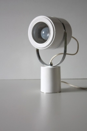 Sixties wit bureaulampje / Sixties white desklamp [sold]