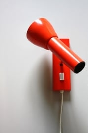 Seventies rode wandlamp / Seventies red wall lamp