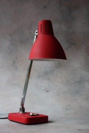Rood Japans bureaulampje / Red Japanese Office light
