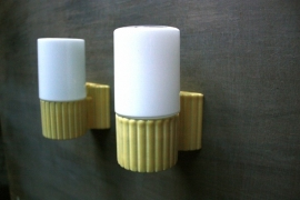 Keramische wandlampjes `60 / Ceramic wall lights `60 [sold]