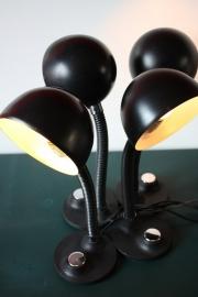 3 Zwarte vintage bollampen / 3 Black vintage globes [sold]