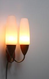 Houten muurlampje / Wooden wall lamp [verkocht]