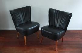 Zwarte clubfauteuiltjes / Black club seats  [verkocht]