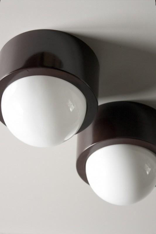Halve bollampjes  2x / Half globe lamps 2x [sold]