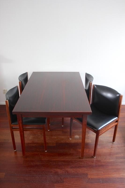 Pastoe Braakman tafel + stoelen /  Pastoe Braakman table + chairs