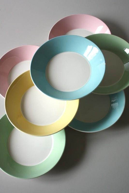 Boch 9 pastel bordjes / Boch 9 pastel plates [verkocht]