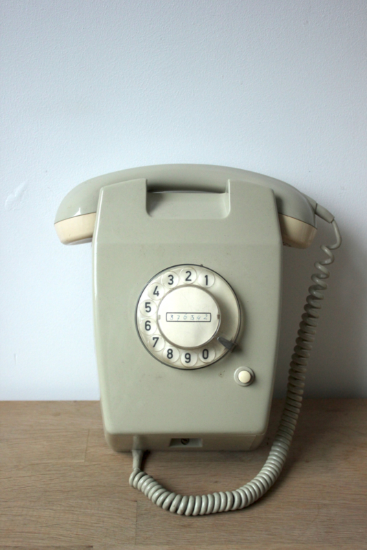 Vintage ptt telefoon W65 / Vintage Dutch Phone W65 [ sold]