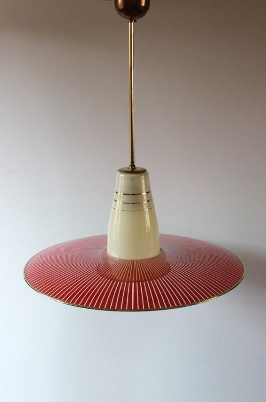 Glazen vintage hanglamp / Glass vintage hanging lamp [sold]