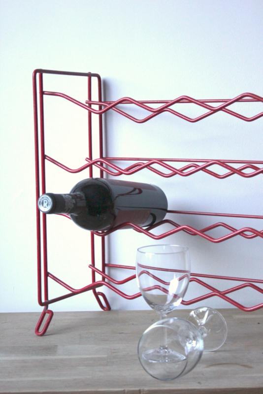 Wijnrek Tomado Rood / Winerack Tomado Red   [sold]