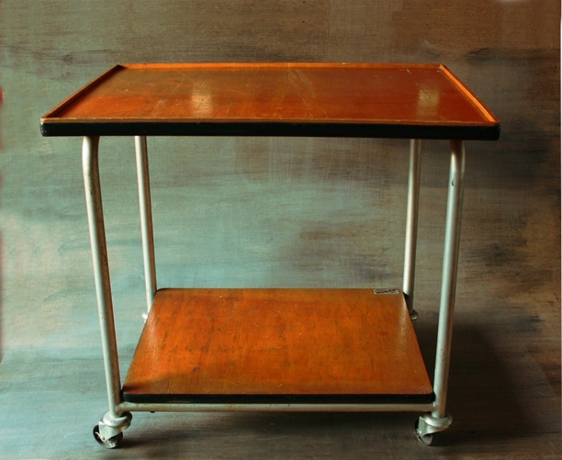 Houten trolley / wooden trolley [ sold ]