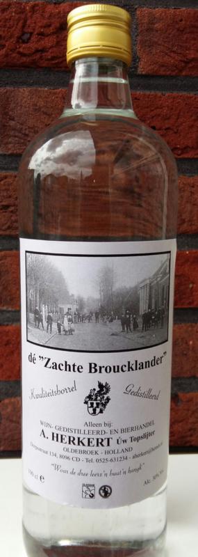 """Dé """"Zachte Broucklander""""    30% vol alc."""