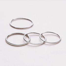 Zilveren ring XS