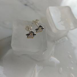 zilveren pinguïn oorbellen