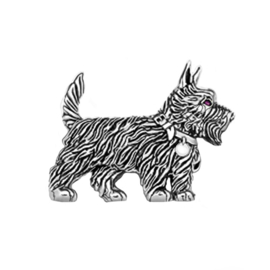 Sterling zilveren Terrier hond broche