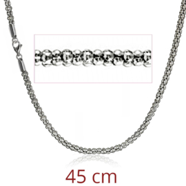 steel popcorn necklace