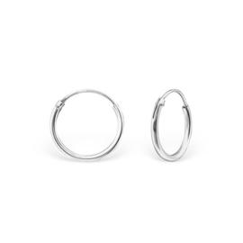zilveren creolen 14 mm
