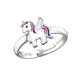 silver kids ring unicorn