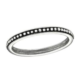 zilveren bolletje Bali ring