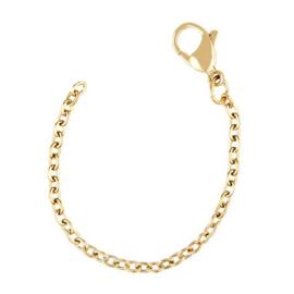 zilveren gold plated armband ketting verlengstukje