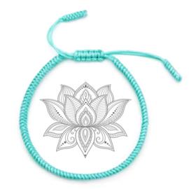 Yoga armband mintblauw