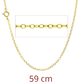 zilveren gold plated schakelketting