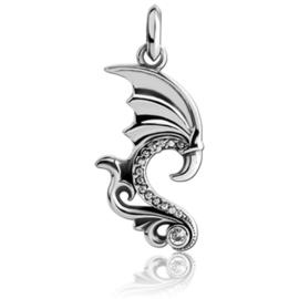 Stalen draken vleugel kettinghanger