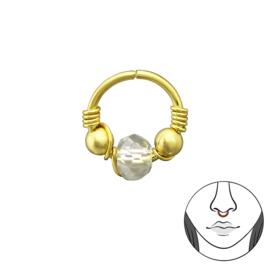 goud zilveren neusringetje