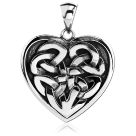 Keltische hartje stalen kettinghanger