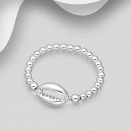 Zilveren Kauri schelp ring