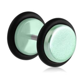 Fake plug oorbel UV pastel groen