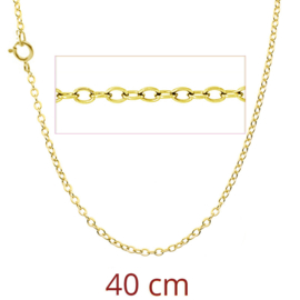 zilver gold plated korte schakelketting
