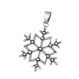 zilveren sneeuwvlok kettinghanger