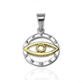 Zilveren oog kettinghanger