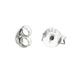 sterling zilveren oorbel achterkantjes
