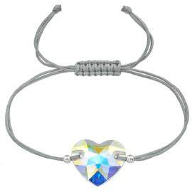 armband met Swarovski kristal hartje