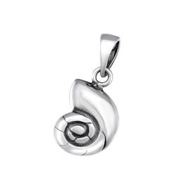 zilveren schelp kettinghanger