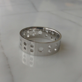 Stalen band ring
