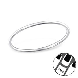 zilveren midi knokkel ring