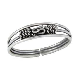 zilveren Bali teenring