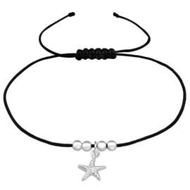 armband met zilveren zeester