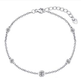 zilveren armband met ronde zirkonia