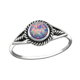 zilveren ring met Opaal