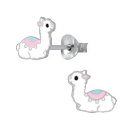 zilveren lama oorbellen