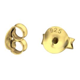 sterling zilveren gouden grote oorbel achterkantjes