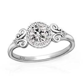zilveren zirkonia ring